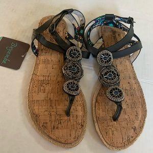 Buyamba Sandal with Beads upper leather.